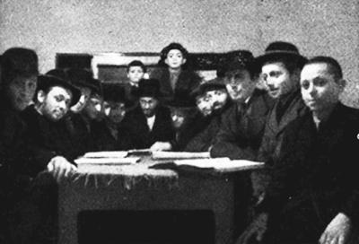 Mitglieder der Landsberger Jeschiwa
