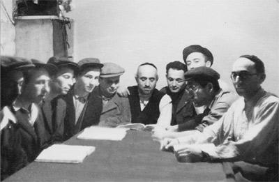 Schüler der Jeschiwa in Aschau
