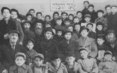Schüler der Talmud Thora Schule im Camp Herzog
